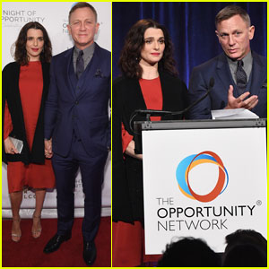 Daniel Craig & Rachel Weisz Step Out For Night Of Opportunity Gala
