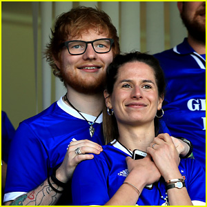 Ed Sheeran & Fiancee Cherry Seaborn Look So Cute Together at Sky Bet Championship