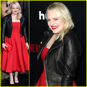 Elisabeth Moss Rocks Leather Jacket at 'Handmaid's Tale' Season 2 Premiere!
