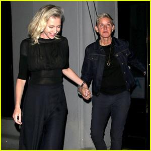 Ellen DeGeneres & Portia de Rossi Are a Chic Pair in West Hollywood!