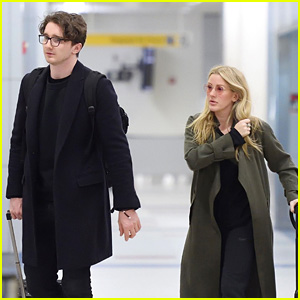 Ellie Goulding & Boyfriend Caspar Jopling Catch a Flight on Easter