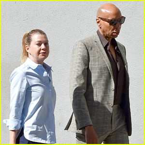 Ellen Pompeo & RuPaul Step Out Together in L.A.