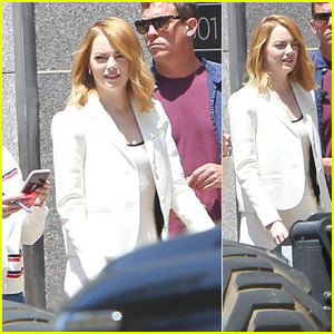 Emma Stone Steps Out After Shooting a Commercial for Louis Vuitton!