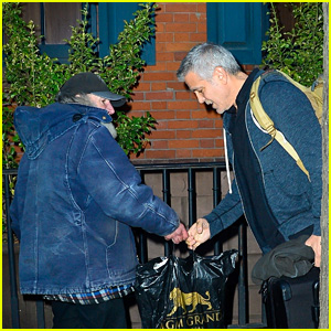 George Clooney Receives a Gift From Radioman While Stepping Out in NYC!