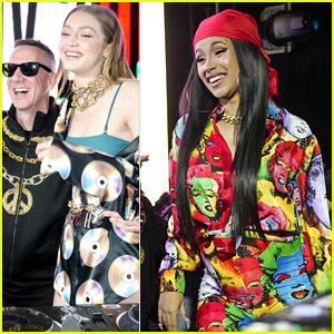 Gigi Hadid & Cardi B Take Over the DJ Booth at Moschino's Coachella Party!
