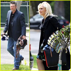 Gwen Stefani & Blake Shelton Couple Up For Easter Outing