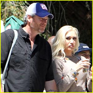 Gwen Stefani & Blake Shelton Take Her Kids to the Park!