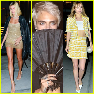 Hailey Baldwin, Cara Delevingne, & Suki Waterhouse Step Out for Gigi Hadid's Birthday!