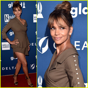 Halle Berry Shows Off Some Leg at GLAAD Media Awards 2018
