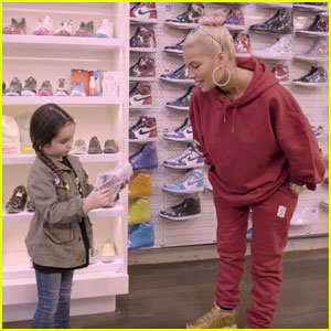 Halsey Goes Sneaker Shopping With Her Littlest Fan - Watch Now!