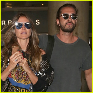 Heidi Klum & New Boyfriend Tom Kaulitz Land in LA After Romantic Getaway