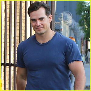 Henry Cavill Shows Off Buff Biceps Taking His Dog for a Walk!
