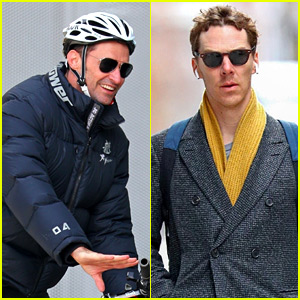Hugh Jackman & Benedict Cumberbatch Go Casual in NYC After Seeing 'Sleep No More' Together!