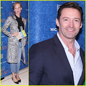 Hugh Jackman & Uma Thurman Step Out To Celebrate 'My Fair Lady' Opening Night!