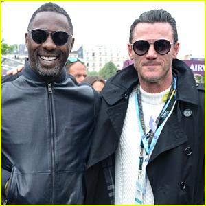 Idris Elba & Luke Evans Buddy Up at ePrix in Paris!