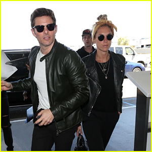 James Marsden & Girlfriend Edei Look Chic in Leather Jackets While Heading to the Airport!