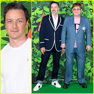 James McAvoy Joins Elton John & David Furnish for 'Sherlock Gnomes' Screening!