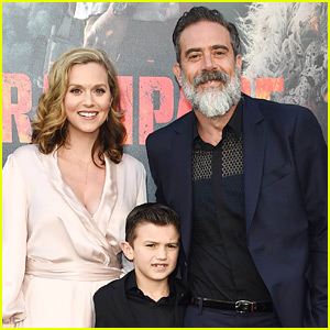 Jeffrey Dean Morgan & Hilarie Burton Make Rare Appearance with Son Gus at 'Rampage' Premiere!