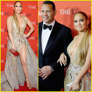 Jennifer Lopez Shows Off Some Leg at Time 100 Gala with Alex Rodriguez