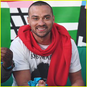 Jesse Williams Hangs Out with Friends at Coachella!