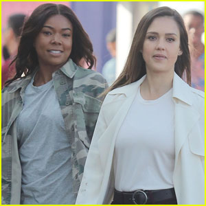Jessica Alba & Gabrielle Union Film Intense Scenes For 'Bad Boys' TV Spinoff