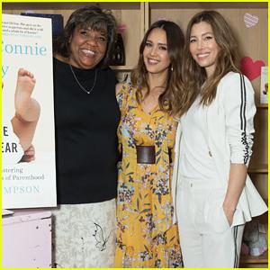 Jessica Biel & Jessica Alba Celebrate Launch of  'The Nanny Connie Way'!