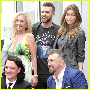 Jessica Biel Supports Husband Justin Timberlake at *NSYNC's Hollywood Walk of Fame Ceremony