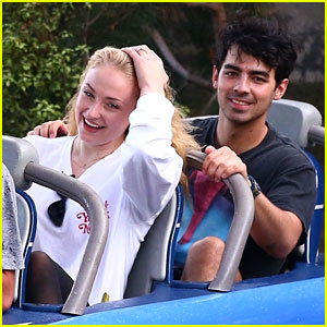 Joe Jonas & Fiancee Sophie Turner Look So Happy at Disneyland - See the Pics!