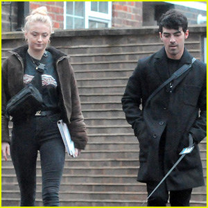Joe Jonas & Sophie Turner Take Their Dog for a Walk in London