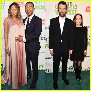 John Legend Craddles Chrissy Teigen's Baby Bump at City Havest Gala 2018!