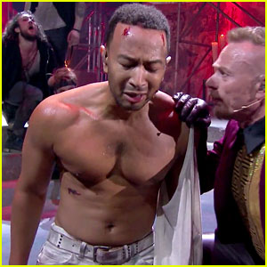 John Legend Goes Shirtless for 'Jesus Christ Superstar' (Video)
