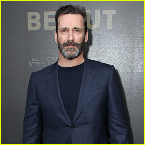 Jon Hamm Sports Some Scruff at 'Beirut' NYC Screening