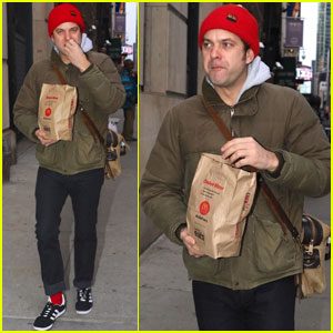 Joshua Jackson Chows Down on McDonald's Ahead of Play Performance