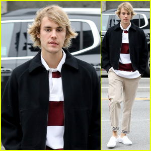 Justin Bieber Steps Out for Breakfast With 'Cash Only' Khakis!