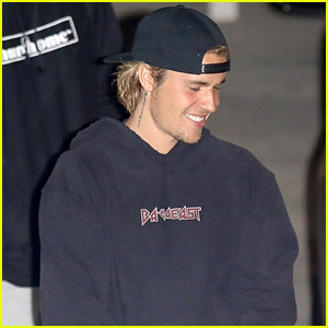 Justin Bieber Is in a Great Mood After Leaving Church in Beverly Hills!