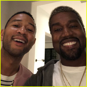 Kanye West & John Legend Hang Out at Chrissy Teigen's Surprise Baby Shower