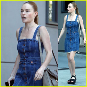 Kate Bosworth Looks Cute in a Denim Dress While Heading to a Meeting!