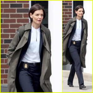 Katie Holmes Steps Out in Character as a FBI Agent While Filming Her New TV Show!