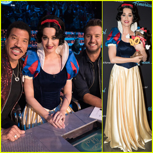 Katy Perry Dresses As Snow White For Disney Night On American