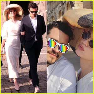 Katy Perry & Orlando Bloom Visit the Colosseum in Rome!