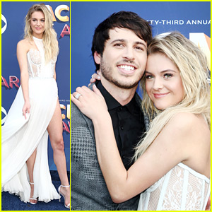 Kelsea Ballerini & Husband Morgan Evans Are Glowing Newlyweds at ACM Awards 2018