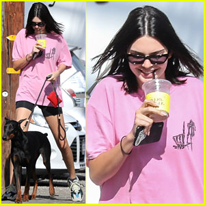 Kendall Jenner is Pretty in Pink for Coffee Run With Mystery Man