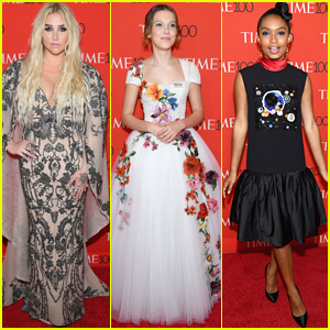 Kesha, Millie Bobby Brown, & Yara Shahidi Go Glam for Time 100 Gala 2018!