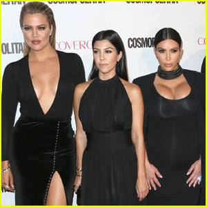 Kim, Kourtney & Kendall Arrive in Cleveland to Support Khloe Kardashian