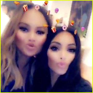 Kim Kardashian West & Chrissy Teigen Snap Selfie at Surprise Baby Shower