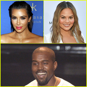 Kim Kardashian & Chrissy Teigen Have Some Fun Roasting Kanye West's Tweet!