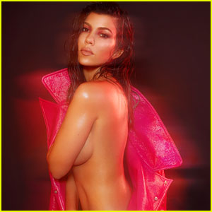 Kourtney Kardashian Strips Down for 'V' to Promote New Cosmetics Collection!
