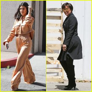 Kourtney Kardashian & Kris Jenner Step Out Amid Kanye West Trump Tweet Controversy