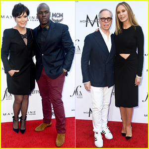 Kris Jenner & Corey Gamble Couple Up with Tommy Hilfiger at Daily Front Row Fashion Awards 2018!