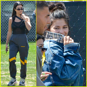 Kylie Jenner & Kourtney Kardashian Arrive at Coachella With Their Boyfriends